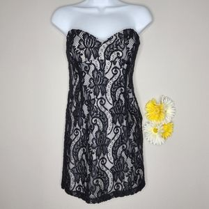 Charlotte Russe lace strapless dress